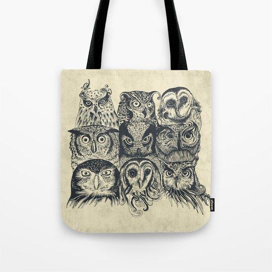 Nine Owls Tote Bag
