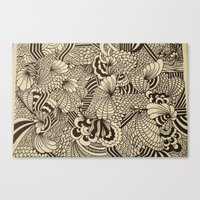 Doodles And Swirls II Canvas Print