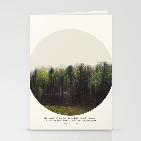 Dark Forest Stationery Card