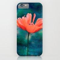 iPhone & iPod Case featuring Lonely poppy by LudaNayvelt