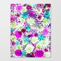 RACHEL ABSTRACT FLORAL Canvas Print