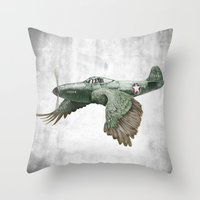 In which it's a bird. It's a plane. (Now in technicolour) Throw Pillow
