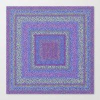 Violet Squares Canvas Print