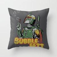 Bubble Fett Throw Pillow
