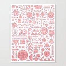 Modern Elements with Bubble Gum. Canvas Print