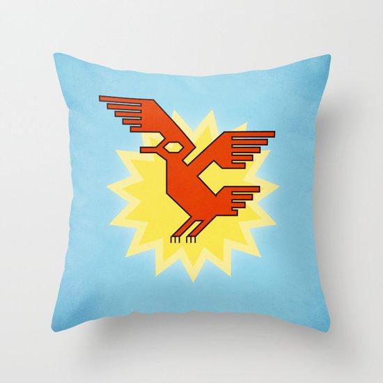 Geometric Andean Condor Bird Throw Pillow