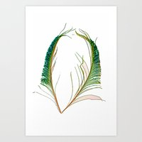 Peacock Love Dayglow Art Print
