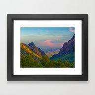 Chisos Mountain Park Big… Framed Art Print