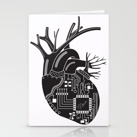 Corazón Negro (Black Heart) Stationery Card