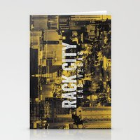 Black Yellow Cool Rack City Las Vegas Photography Stationery Cards