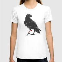 You've Got A Raven Womens Fitted Tee White SMALL