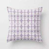 Lavender Wings Throw Pillow