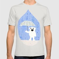Rain Mens Fitted Tee Silver SMALL