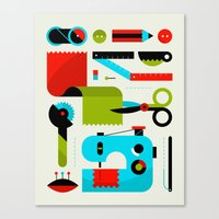 Sewing Kit Canvas Print