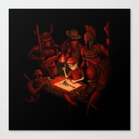 Draw Your Weapon Canvas Print