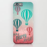 Oh, the Places You'll Go - Coral & Teal iPhone 6 Slim Case