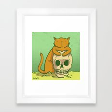 Kitty Hugs Framed Art Print