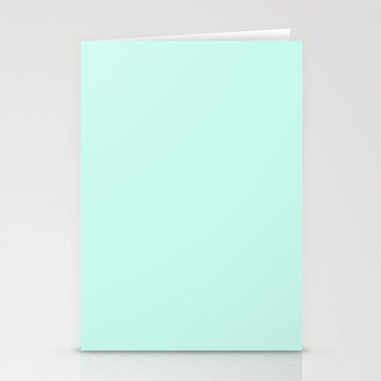 Sea Green Stationery Card