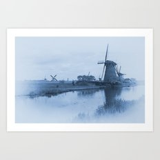 Kinderdijk Blues  Art Print