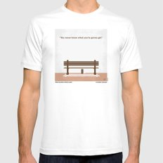 No193 My Forrest Gump minimal movie poster Mens Fitted Tee White SMALL