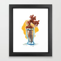 Chocolate Mousse Framed Art Print