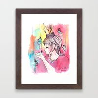 You have to Kiss many Frogs to find your Prince Framed Art Print
