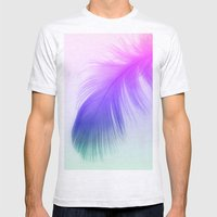 Painted Feather Mens Fitted Tee Ash Grey SMALL