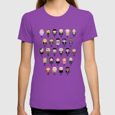 Pixel Art - Harry Potter Alphabet parody Womens Fitted Tee Ultraviolet SMALL