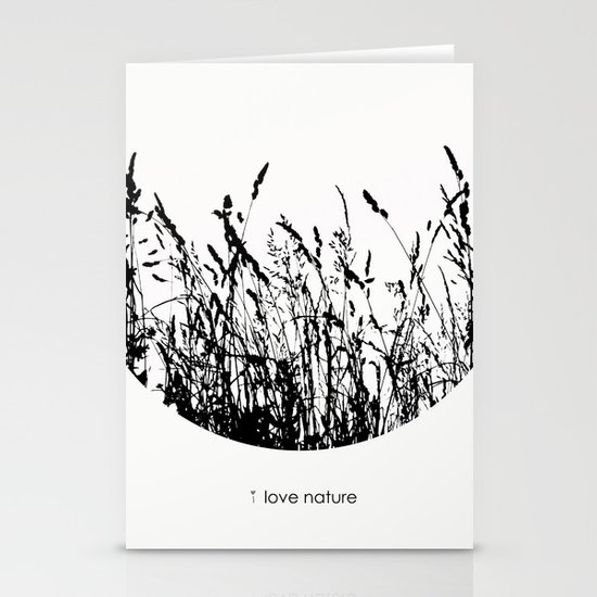 i love nature Stationery Card