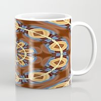 Blue Wood Kaleido Pattern Mug