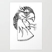 A kind of parrot Art Print