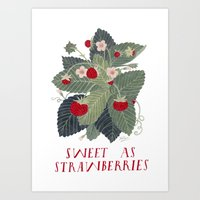 Sweet As Strawberries Art Print