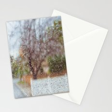 Fence in the Rain Stationery Cards
