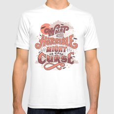 Curse SMALL White Mens Fitted Tee