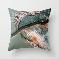 Corrosion Colors II Throw Pillow