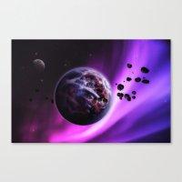 Deep Purple Space Canvas Print