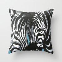 Eye of Contrast {Zebra Love} Throw Pillow