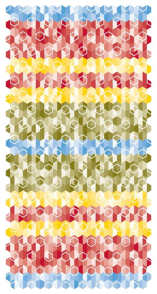 Hexagon pattern Art Print