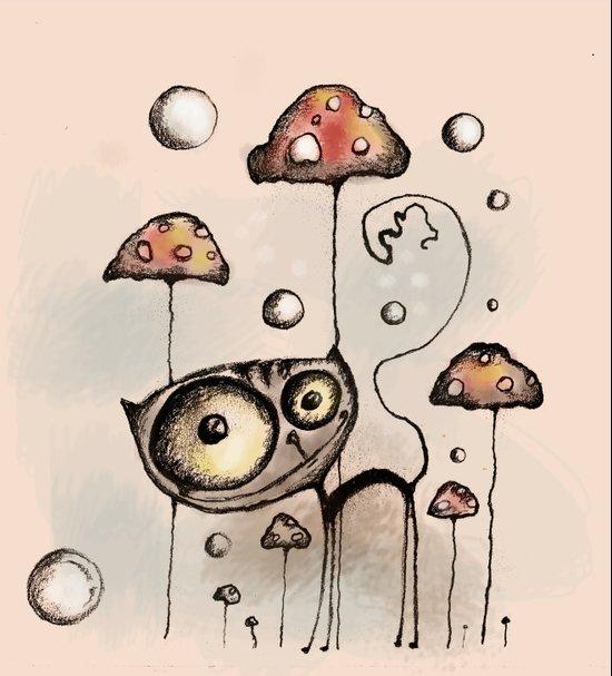 poison mushrooms Art Print