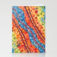 Water And Lava Stationery Cards