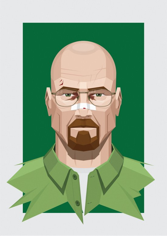 Breaking Bad - Walter White Beaten Up Art Print