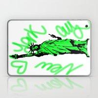 New York City Neon Green Laptop & iPad Skin