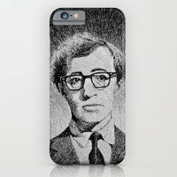 iPhone & iPod Case featuring Woody Allen portrait  by Nicolas Jolly