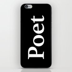 Poet inverse edition iPhone & iPod Skin