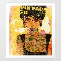 Vintage 76 ( Karla ) Art Print