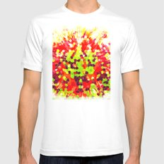 INKRAIN White Mens Fitted Tee SMALL