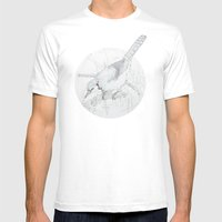 Cyanocitta Cristata Mens Fitted Tee White SMALL