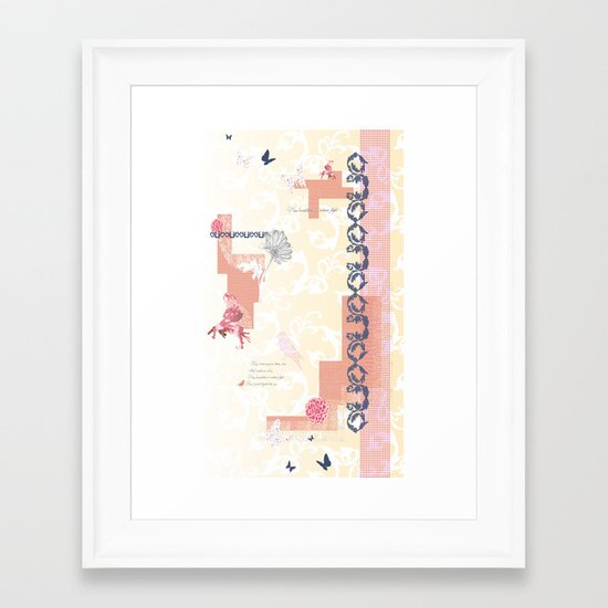 Roses Cease to Bloom Framed Art Print