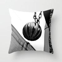 Urban alley ornament Throw Pillow