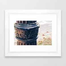 Leaves On A Lamp Post Framed Art Print